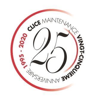Clice logo 25 ans coul red
